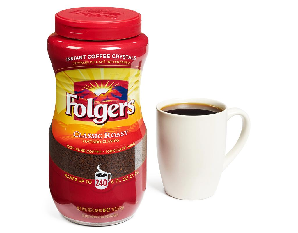 Boxed.com : Folgers Instant Coffee 16 oz. - Classic Roast