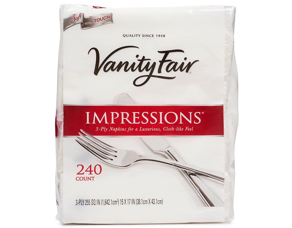Boxed : Vanity Fair Impressions Dinner Napkins 240 Count