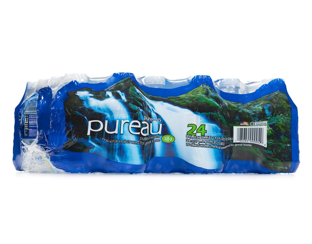 Boxed Com Pureau Purified Water 24 X 8 Oz Mineral