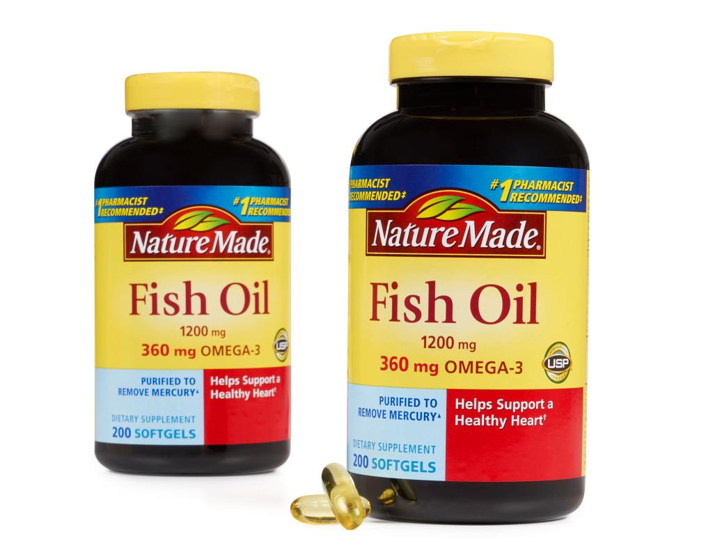 Nature Made Fish Oil 400 Liquid Softgels 1200mg