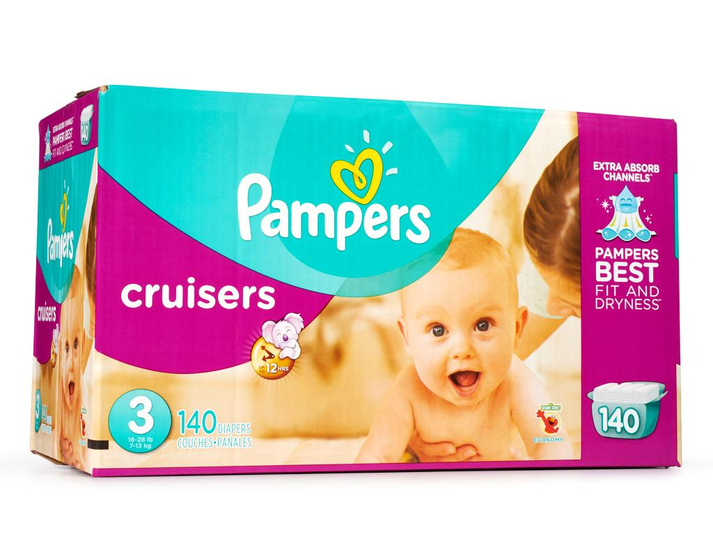 Boxed Com Pampers Cruisers 140 Diapers Size 3