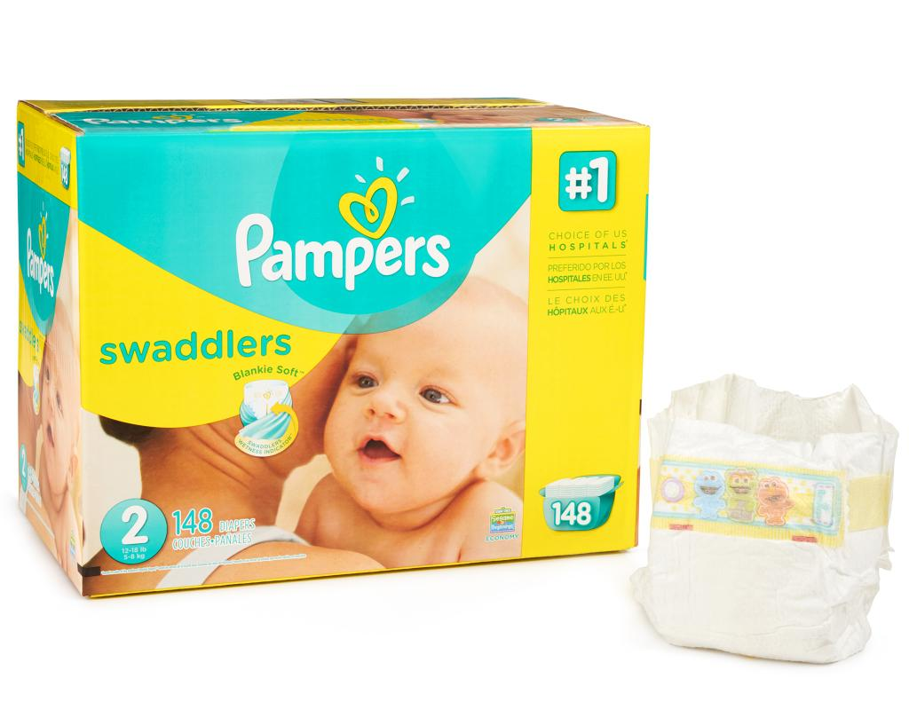 Boxed Com Pampers Swaddlers 148 Diapers Size 2