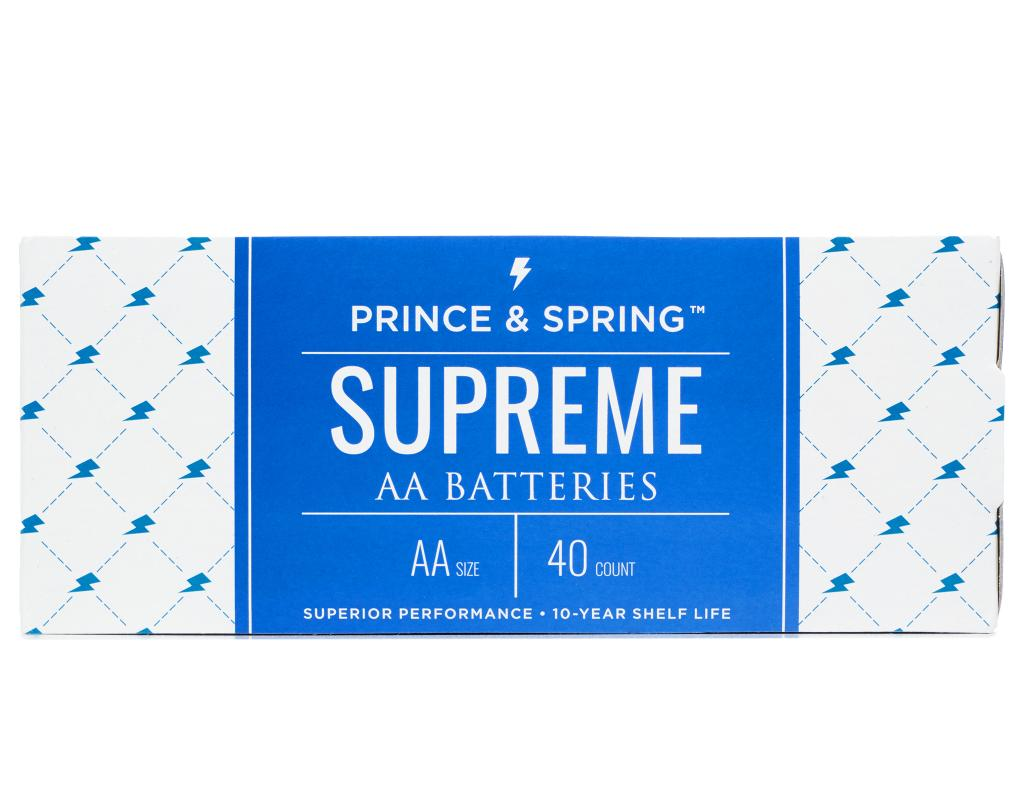 Boxed Com Prince Amp Spring Aa Supreme Batteries 40 Count