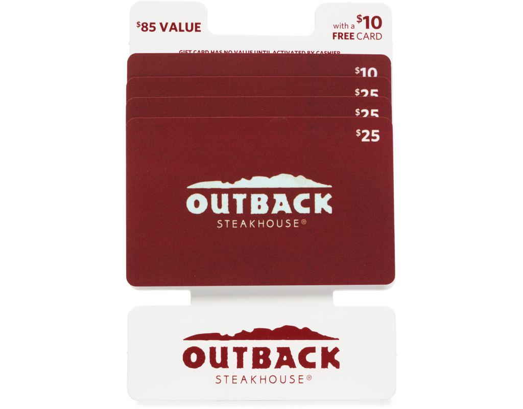 Get an Outback gift card from eGifter and enjoy a great meal. Gift cards from eGifter are always the perfect gift. Buy a $25 Regal Cinemas Gift Card for only $20! Promo Code: REGAL Buy a $50 Destination Maternity Gift Card for only $40! Promo Code: NEWBABY.