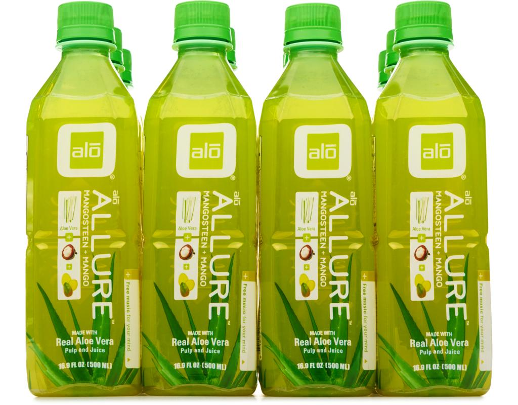 alo allure aloe vera drink 12 x 16 9 oz mangosteen mango. Black Bedroom Furniture Sets. Home Design Ideas