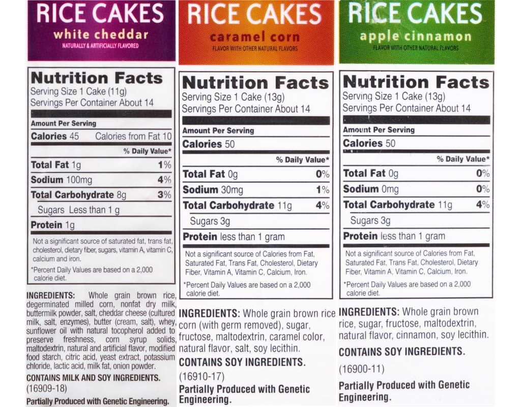 Boxed.com : Quaker Rice Cakes 6 Count - Variety Pack Quaker Rice Cakes Nutrition Facts