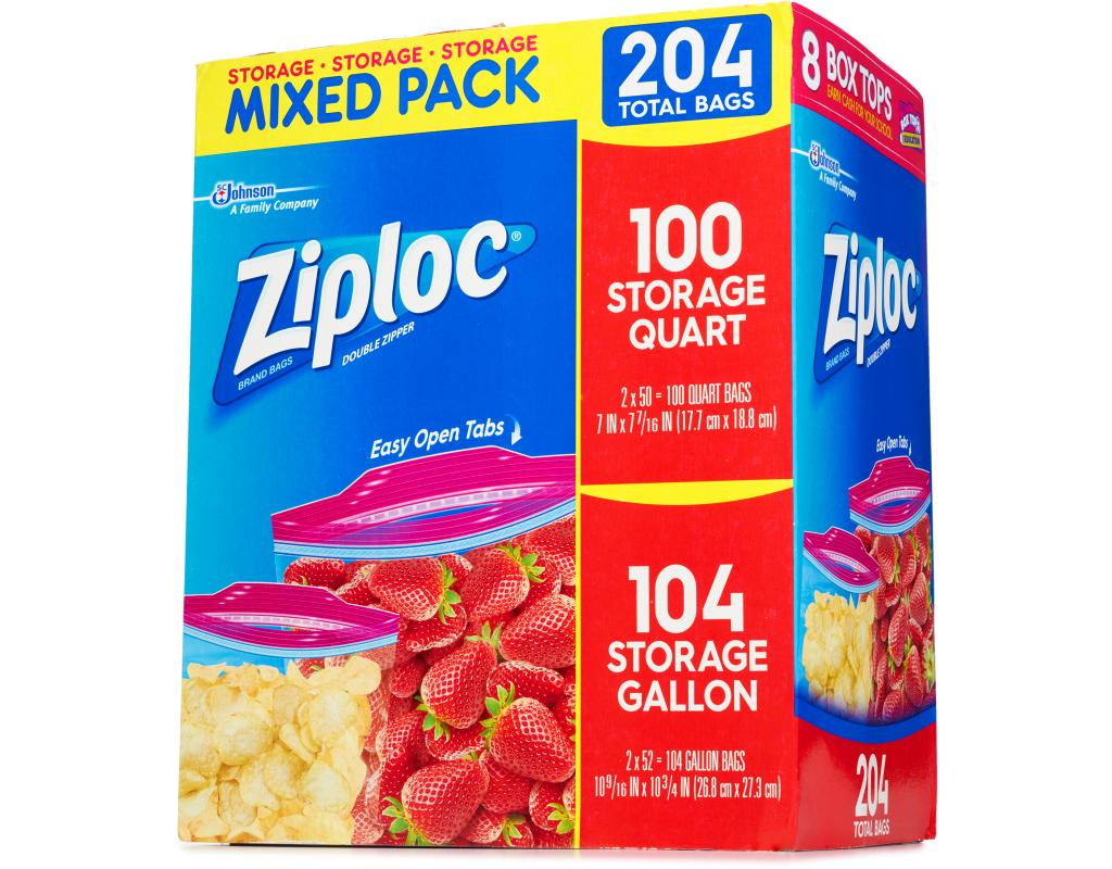 Boxed Com Ziploc Easy Open Storage Bags 204 Count