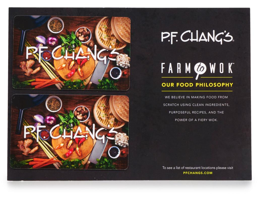 Boxed.com : P.F. Chang's Gift Cards 2 x $50