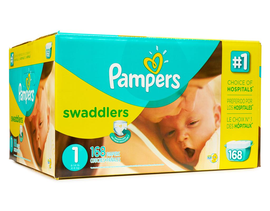 Pampers Swaddlers Size 1 168 Count Boxed