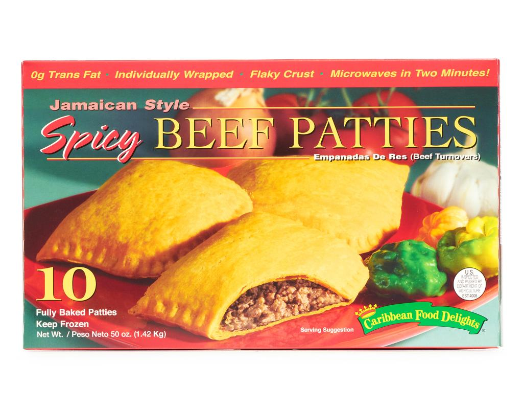 jamaican spicy beef patties 10 count  boxed