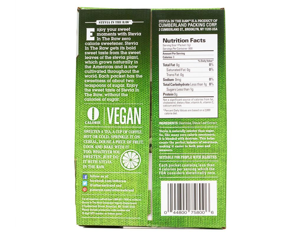 Stevia In The Raw Nutrition Label - Pensandpieces