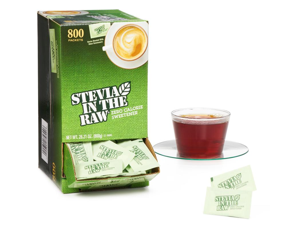 stevia in the raw 800 packets zero calorie sweetener boxed