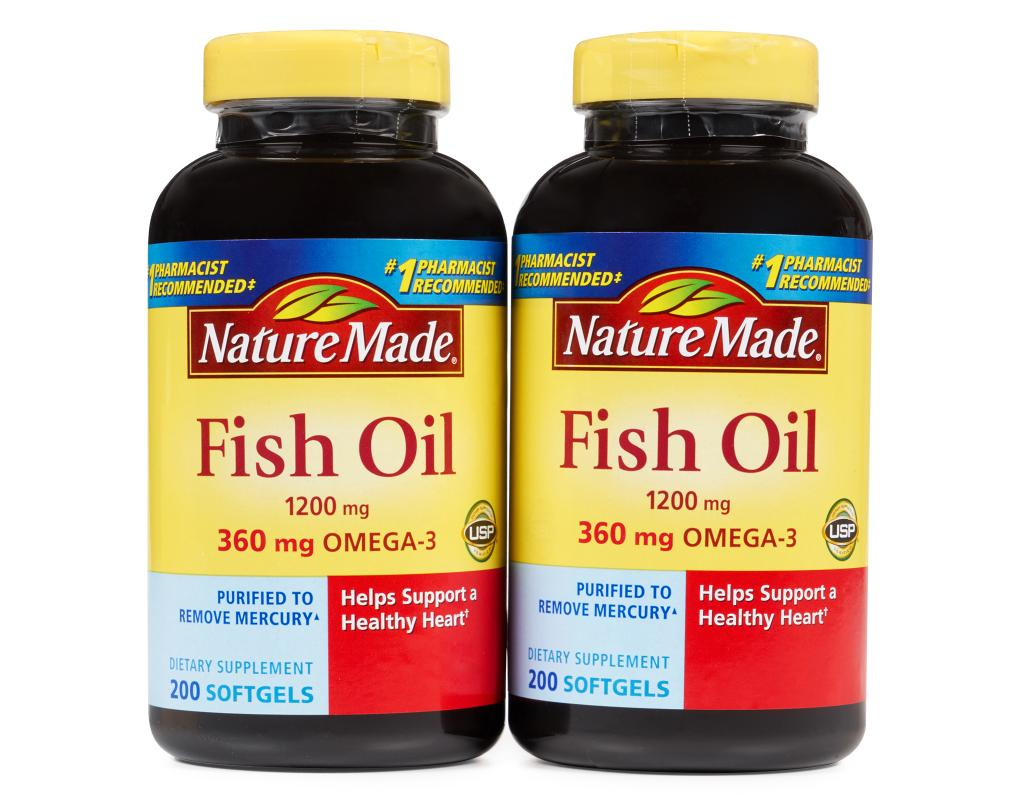Nature made fish oil 400 liquid softgels 1200mg boxed for Nature made fish oil