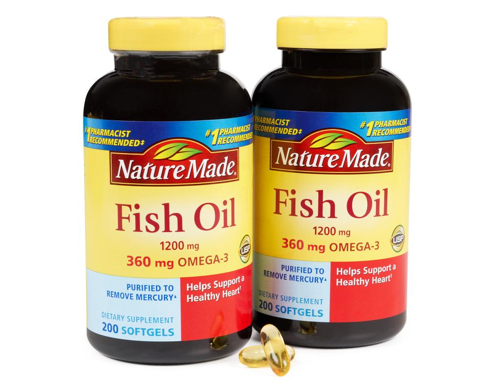 Nature made fish oil 400 liquid softgels 1200mg boxed for Fish oil on face
