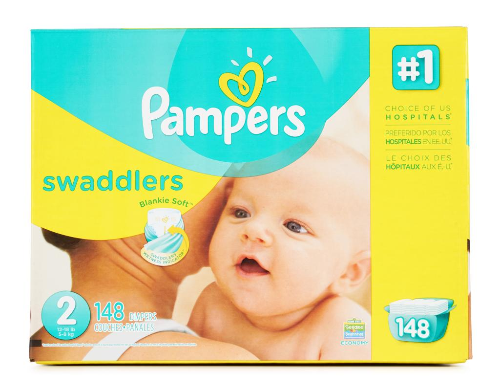 Pampers Pampers Swaddlers Size 2 148 Count Boxed
