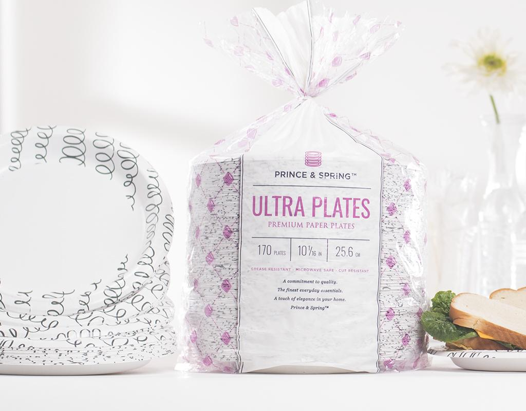 FREE Shipping on First Orders!  sc 1 st  Boxed & Prince u0026 Spring Ultra Plates | 10 in. x 170 Count | Paper Plates | Boxed