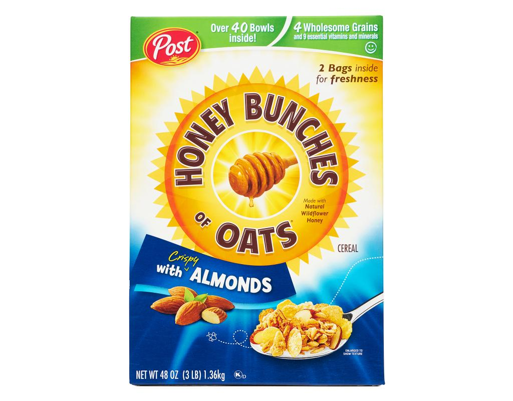 honey bunches oats with almonds 48 oz 2 bags boxed