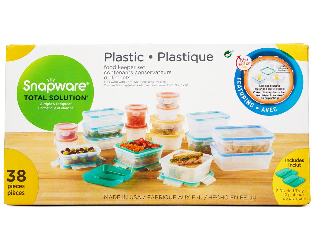 Snapware Plastic Food Keeper Set 38 Pieces | Boxed