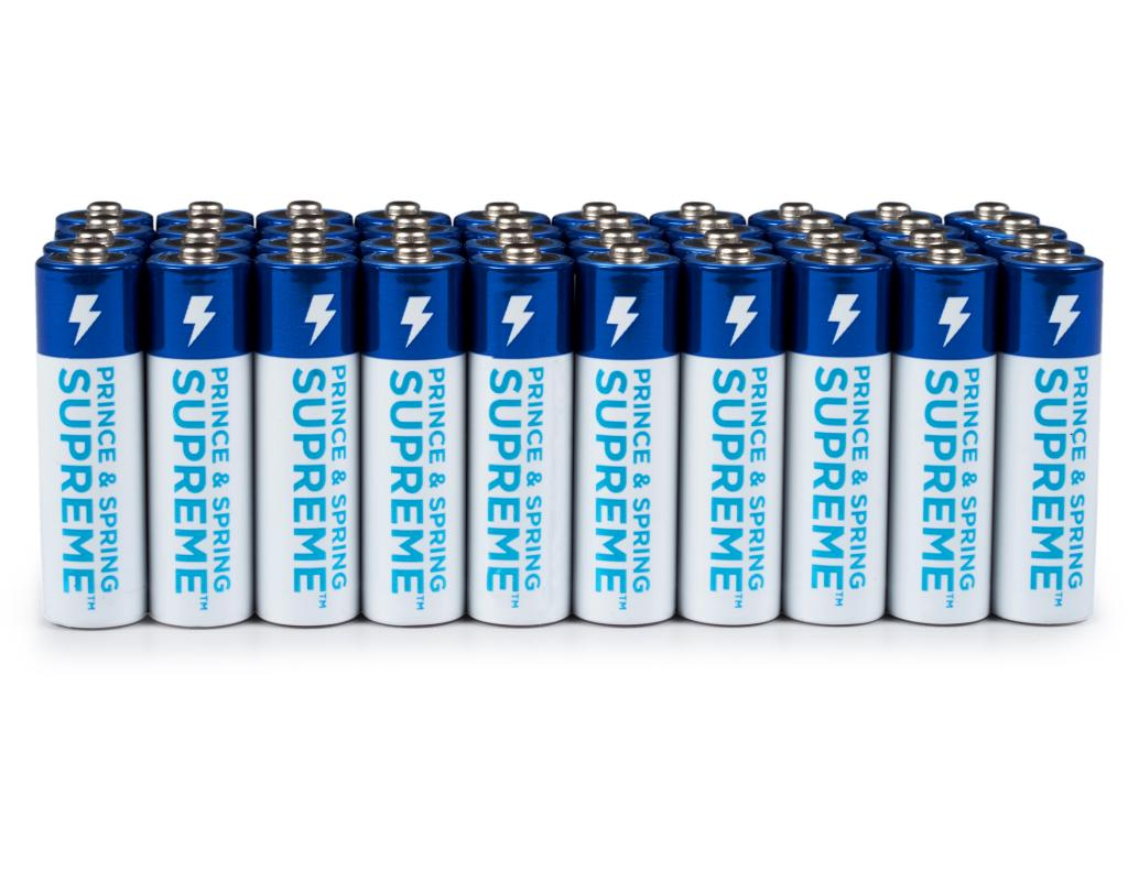 Prince Amp Spring Aa Supreme Batteries 40 Count Superior