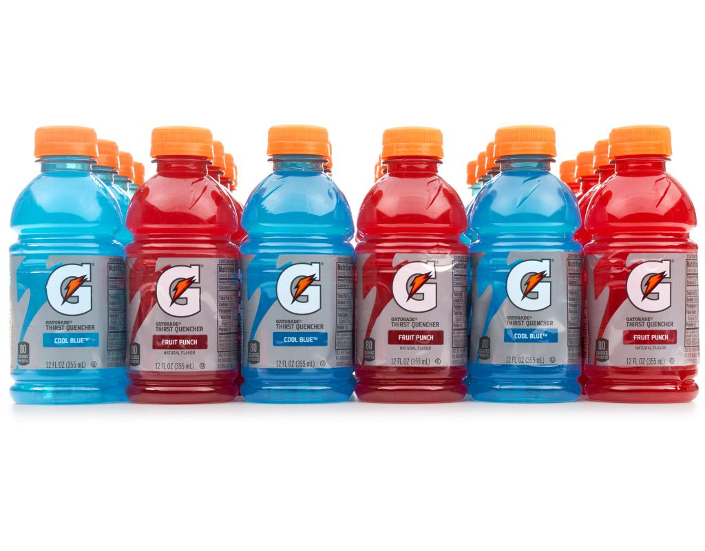 Red White And Blue Drinks With Gatorade