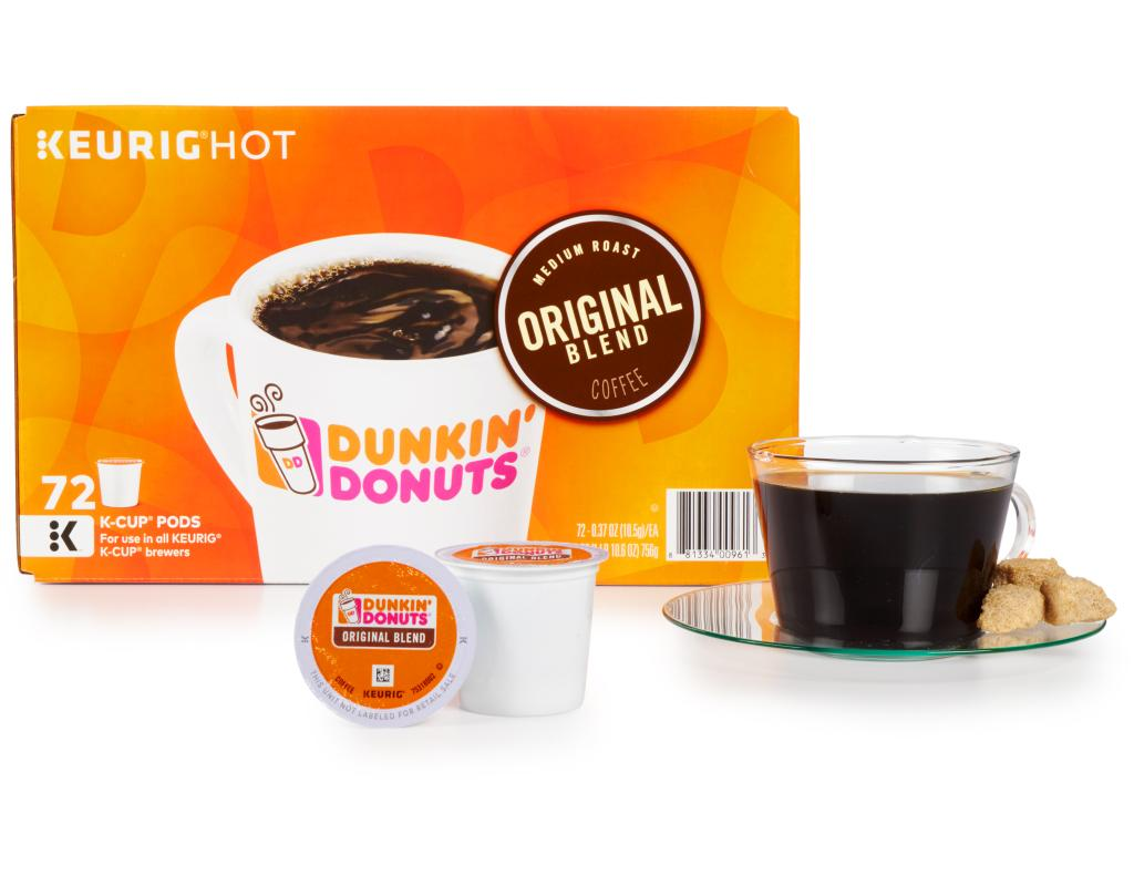 a20f147209f Dunkin' Donuts Original Blend Cups 72 Count - Medium Roast | Boxed