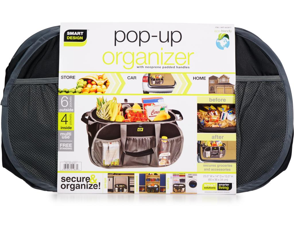 Smart Design Pop Up Organizer Multi Use Boxed