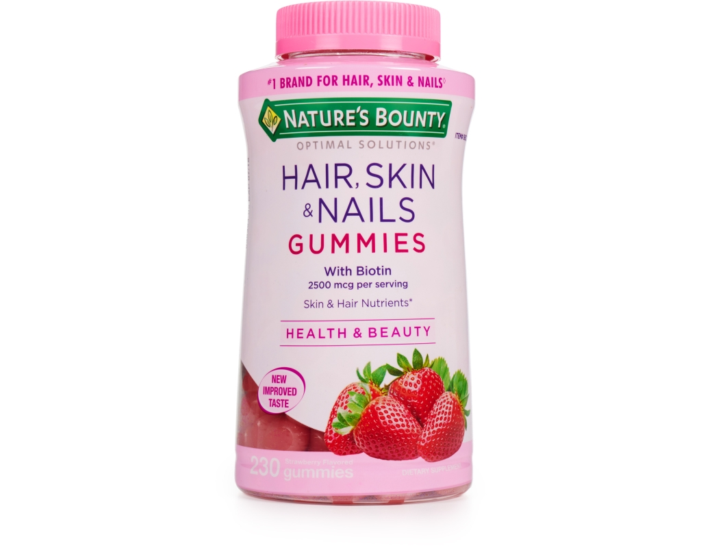 Nature's Bounty Hair, Skin & Nails 230 Strawberry Gummies ...