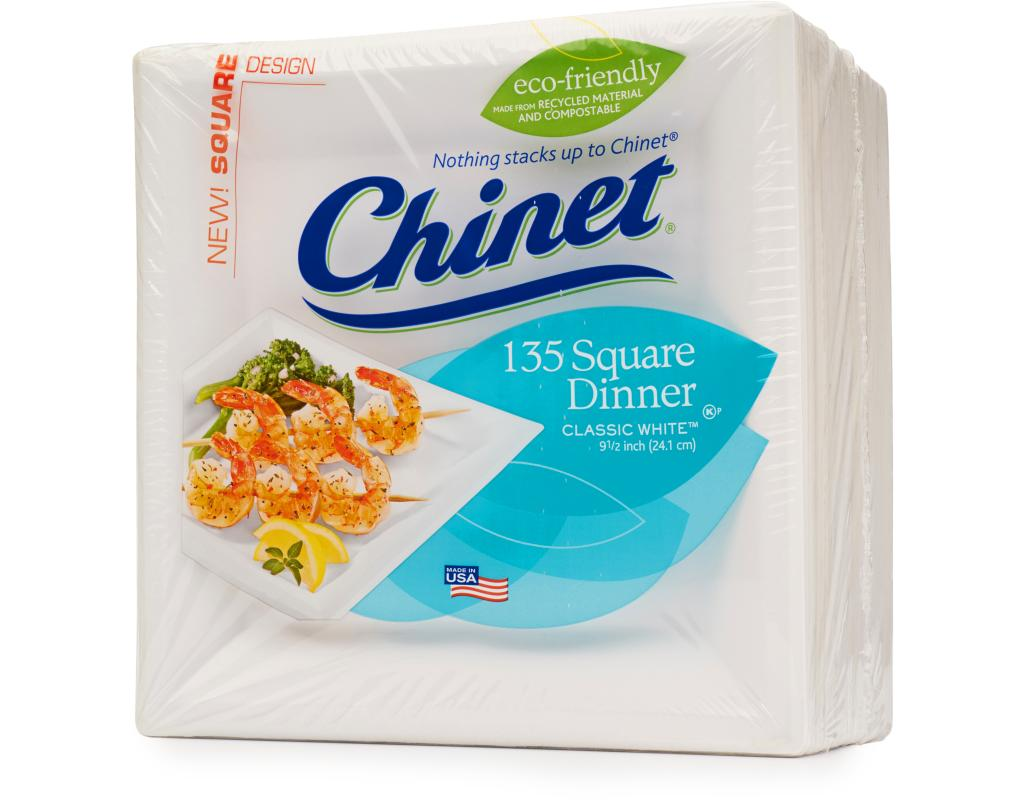 FREE Shipping on First Orders!  sc 1 st  Boxed & Chinet White Square Dinner Plate 135 Count   Boxed