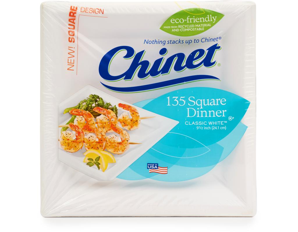 sc 1 st  Boxed & Chinet White Square Dinner Plate 135 Count | Boxed