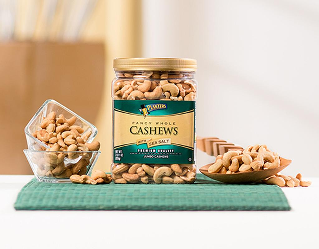 Planters Fancy Whole Cashews 33 oz. - With Sea Salt | Boxed on planters chocolate covered cashews, planters honey roasted cashews, sam's club cashews, planters cashews with sea salt butter, planters deluxe whole cashews, planters dry roasted cashews,