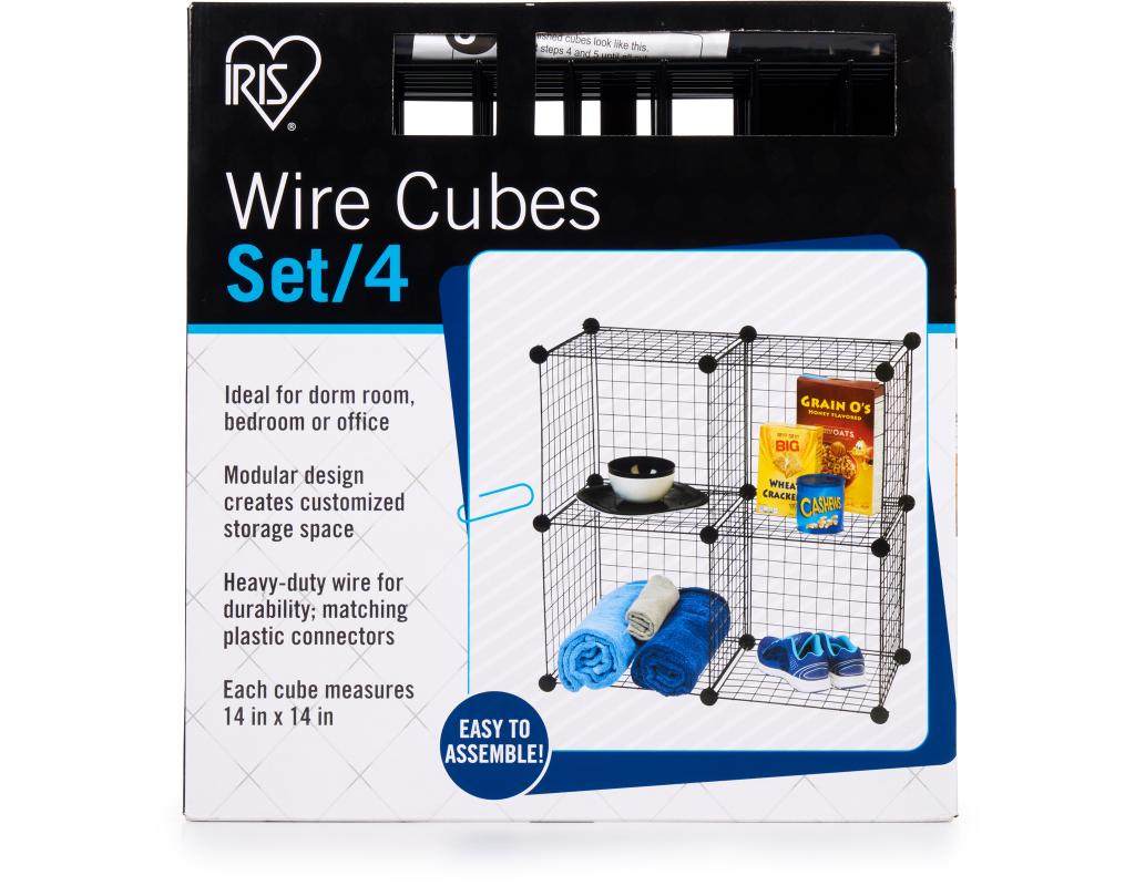 IRIS Wire Cubes 4 Count | Boxed