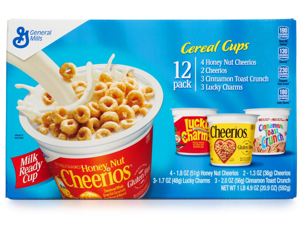 general mills cereal cups variety pack 12 count | boxed