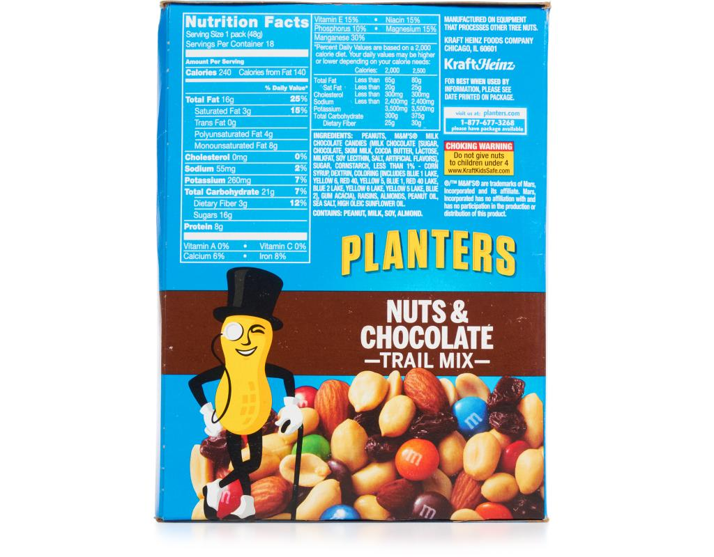 planters nuts amp chocolate trail mix 18 x 17 oz boxed