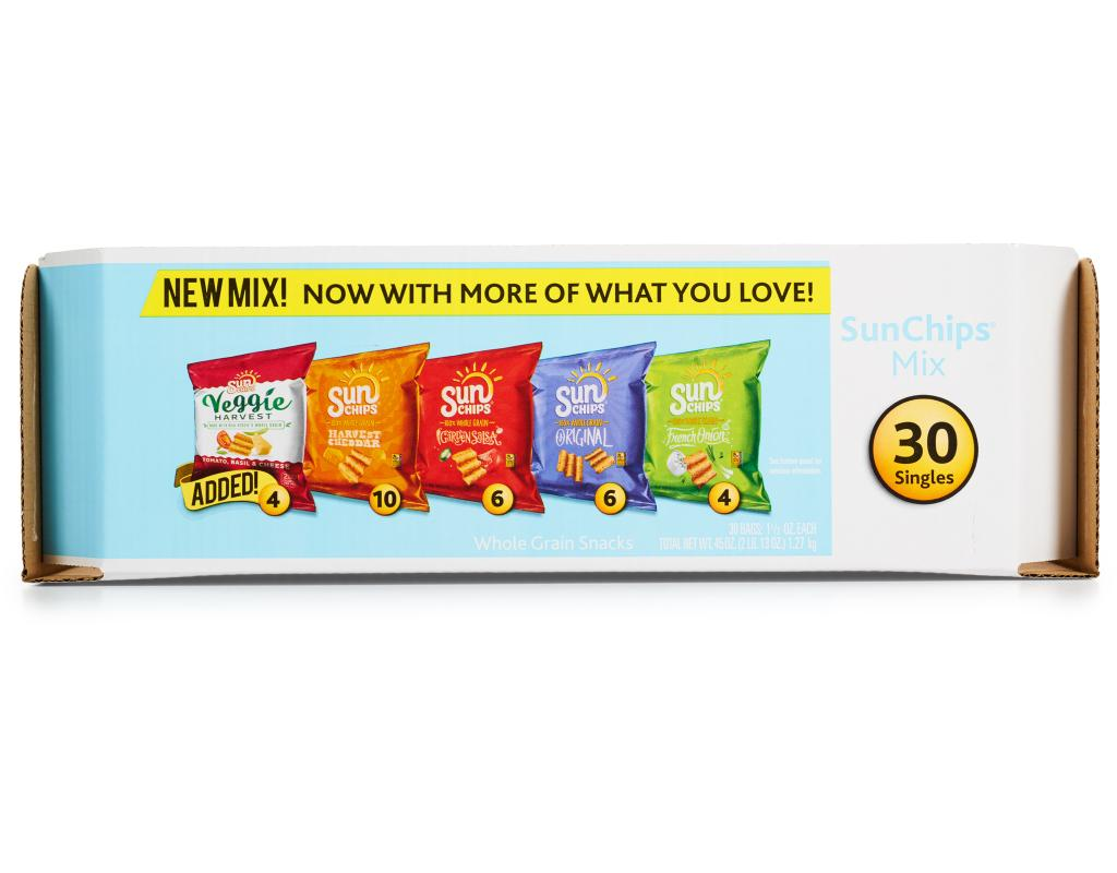 sun chips variety pack 30 count boxed