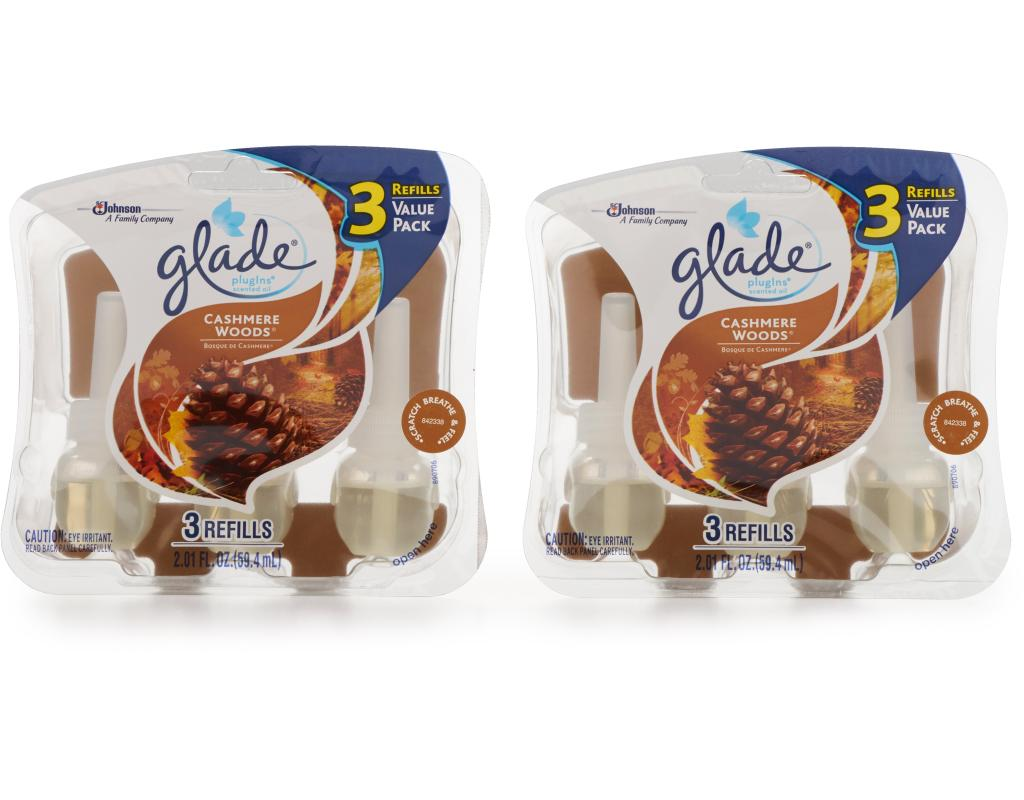 Glade Plugins Scented Oil 2 Warmers 6 Refills Cashmere