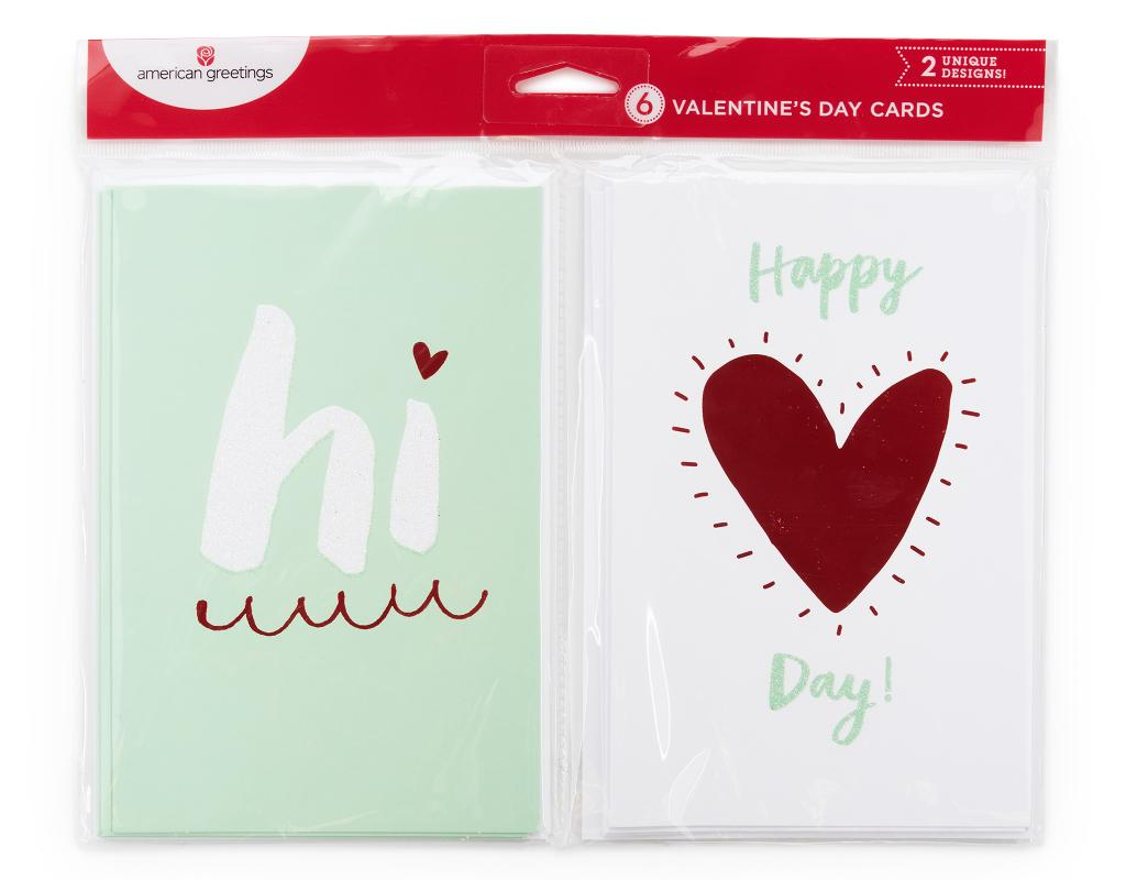 American greetings valentines day cards 6 count boxed m4hsunfo