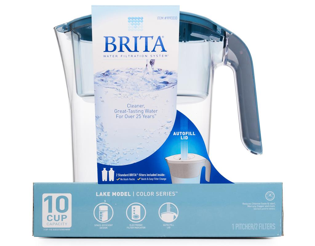 Brita Lake Water Filtration System 1 Pitcher 2 Filters Blue Boxed