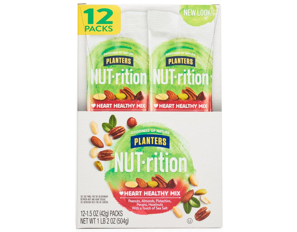 Planters NUTrition Healthy Mix 12 x 1.5 oz. | Boxed on healthy design, healthy cover, healthy live, healthy old, healthy shape, healthy milk, healthy flour,