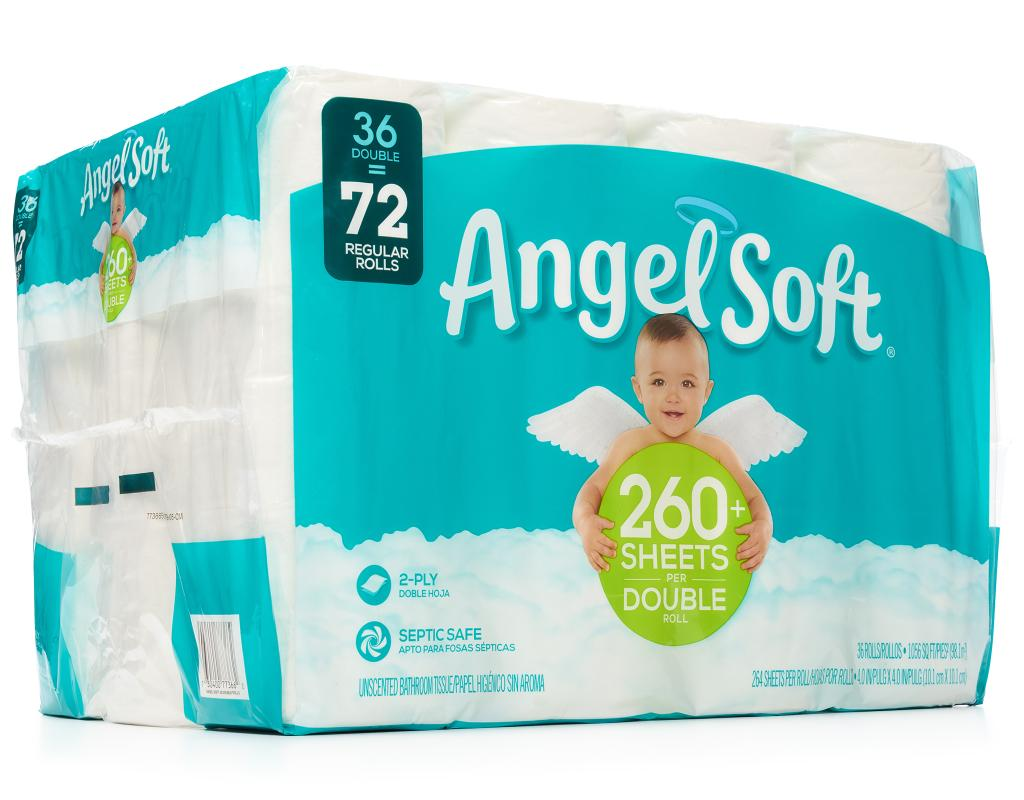 Angel Soft Double Rolls Bathroom Tissue 36 Count Septic