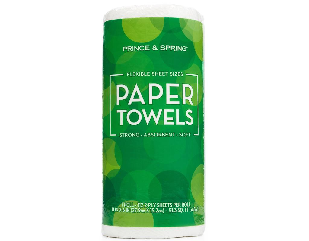 prince spring paper towels paper towel rolls boxed