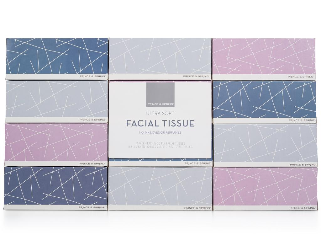 Prince & SpringFacial Tissue. No Inks, Dyes Or Perfumes.12  Count.product.in_stock