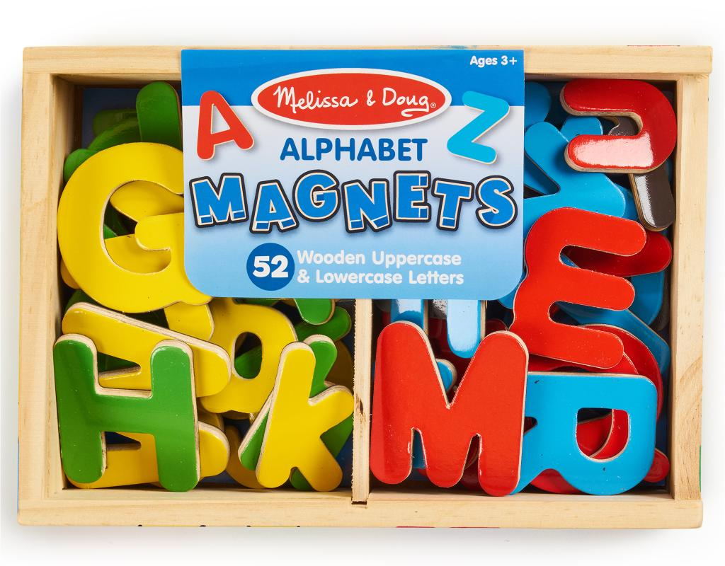 Melissa & Doug Alphabet Wooden Magnets Set 52 Piece | Boxed