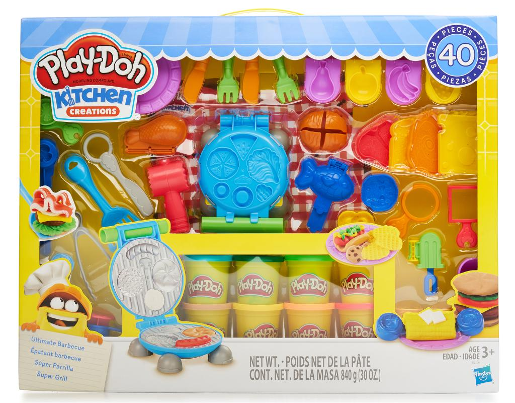 Play Doh Kitchen Creations 40 Pieces Ultimate Barbecue Set Boxed