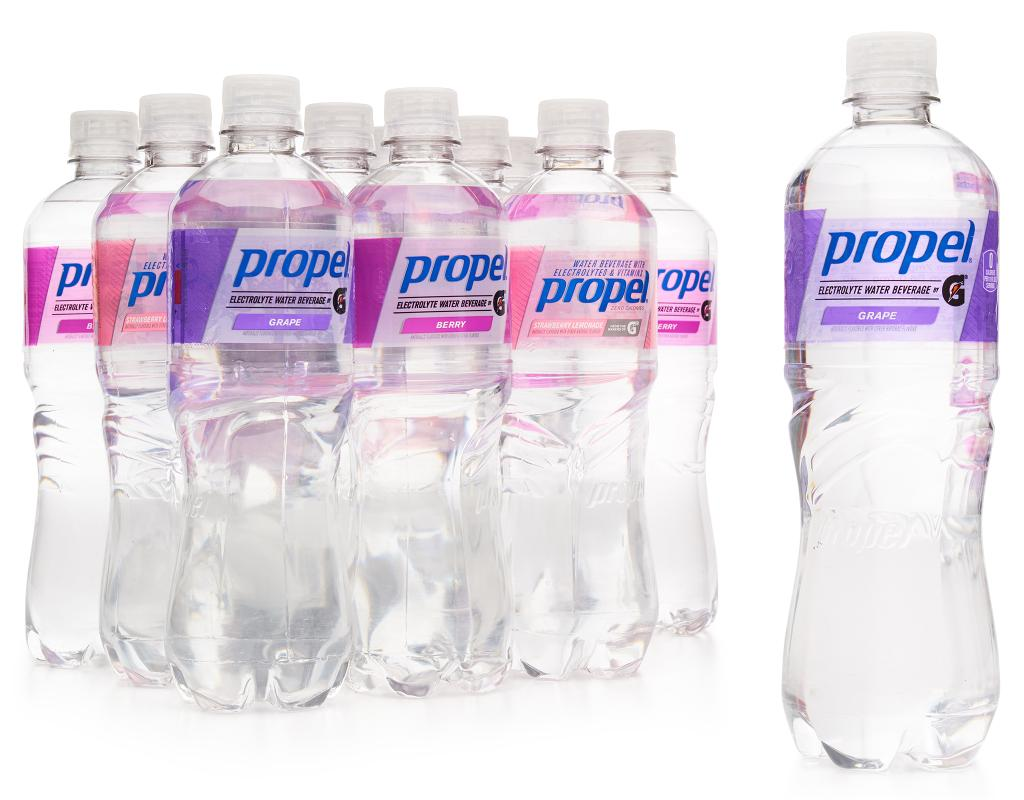 e6c753579d PropelFlavored Water Beverage. Grape + Berry + Strawberry Lemonade.12 x 24  oz.product.in_stock. product.click_zoom_image| product.favorites_label