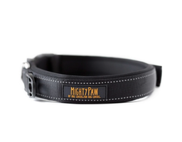 Mighty Paw Black Padded Dog Collar