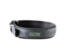Mighty Paw Grey Padded Dog Collar