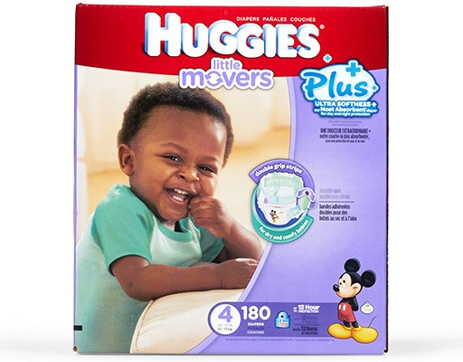 Boxed.com : Huggies Little Movers Plus+ 180 Diapers - Size 4