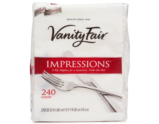 Boxed Com Vanity Fair Impressions Dinner Napkins 240 Count