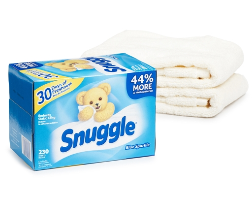 Boxed Com Snuggle Fabric Softener Dryer Sheets 230