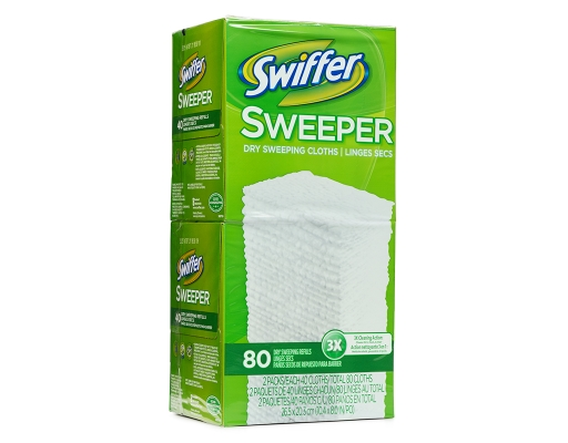 Boxed Com Swiffer Sweeper 80 Sheets Dry Sweeping Refills